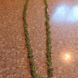 20″ Raw Peridot Necklace With Barrel Clasp
