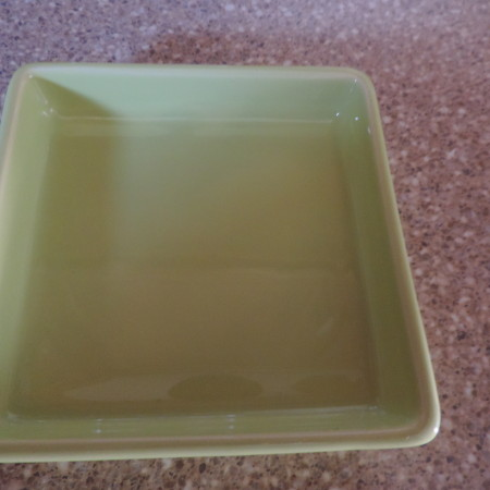 Crabtree & Evelyn Small Square Lime Ceramic Dish NEW