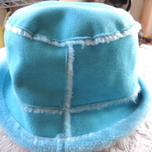 Hat – Faux Suede Turquoise NEW