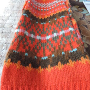 Orange And Brown Scarf NEW