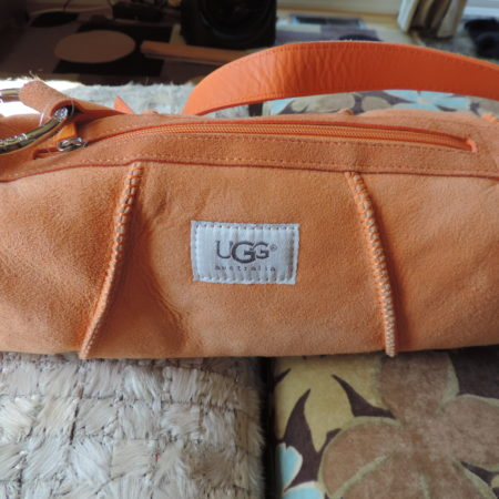 Ugg Orange Sheepskin Handbag NEW