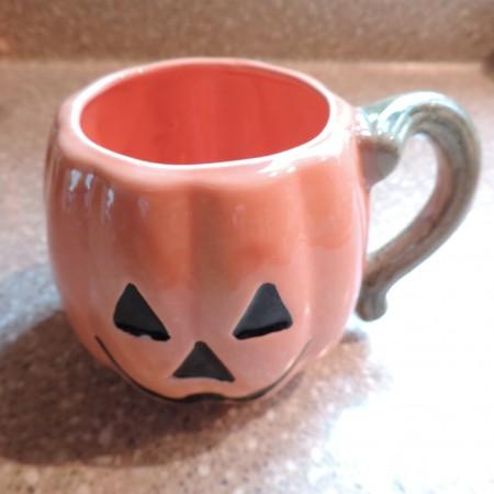 Ceramic Pumpkin Cup