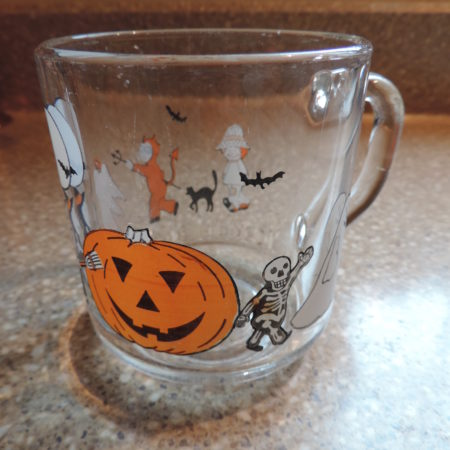 Clear Glass Halloween Trick Or Treating Cup
