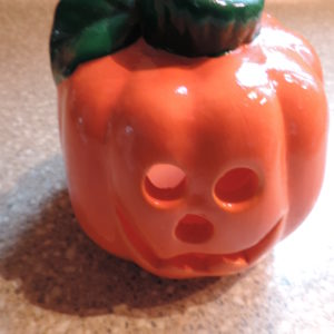 Ceramic Pumpkin Tea Lite Holder