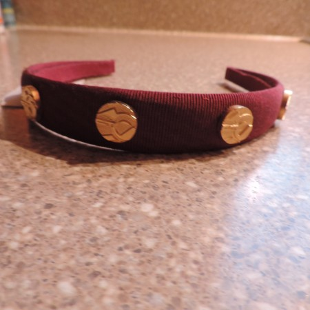 Ferragamo Burgundy Wide Headband NWT