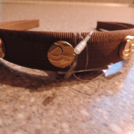 Ferragamo Brown Wide Headband NWT