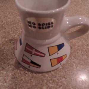 Coffee Mug Large Signal Flag Mug Rubber Bottom