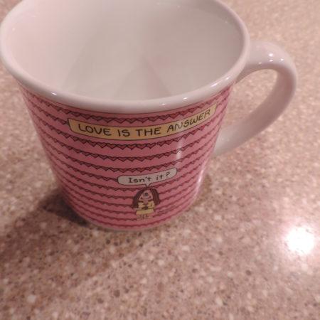 """Coffee Mug """" Love Is The Answer ……"""""""
