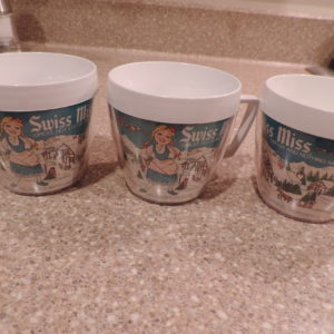 Mugs – 3 Vintage Swiss Miss Mugs Plastic