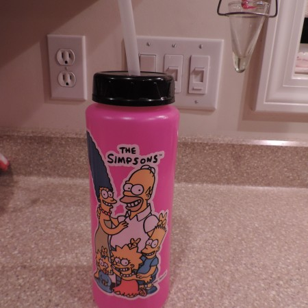 Simpsons  Large Water Bottle NEW