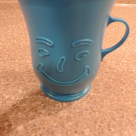 Kool- Aid Blue Plastic Mug Collectible Approx 4″ Tall 70's