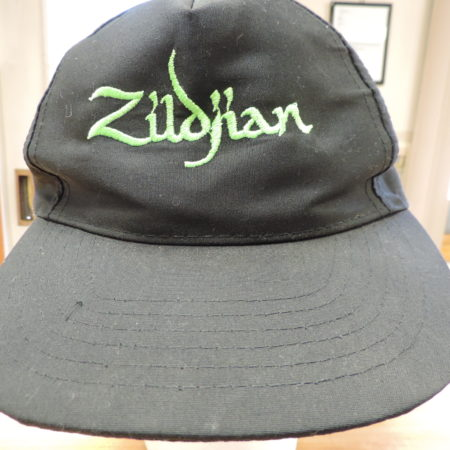 Black Cap Zildjian In Green Embroidery NEW