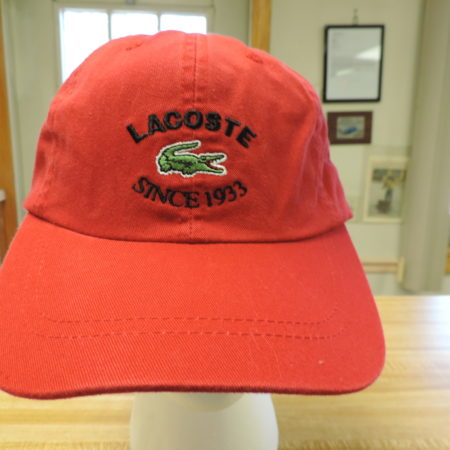 Lacoste Red Baseball Cap NEW