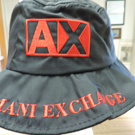 Armani Exchange Bucket Hat Red & Black NEW