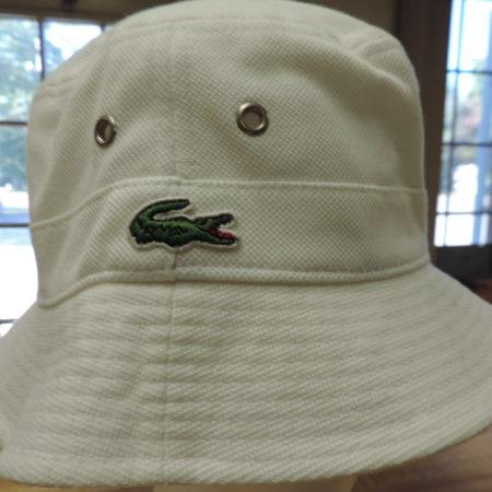 Lacoste Bucket Hat White New