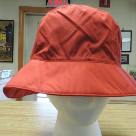 Prada Red Nylon Bucket Hat NWT Size L