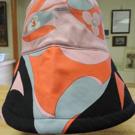Emilio Pucci Cotton Fabric Bucket Hat NEW