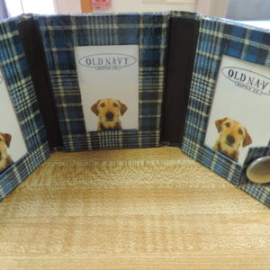 Photo Album Mini Plaid — Holds 3 Photos And Snaps Shut NEW