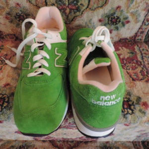 Sneakers – New Balance Green Leather & Suede NEW Size 9 1/2