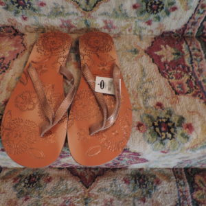 Old Navy Bronze Sandals Size 10 NEW