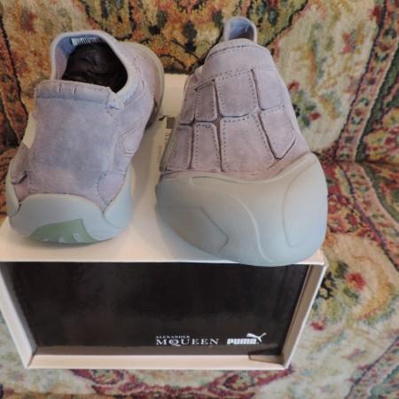 "Alexander McQueen Puma Slip On ""Women's Anatom. Bone"" Shoes Size 9 NWT & BOX"