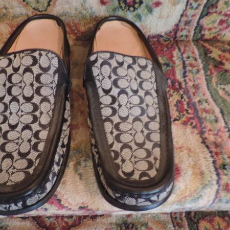 Coach Shoes B&W Print Size 10