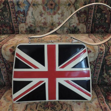 Moschino British Flag Leather Handbag RARE NWT