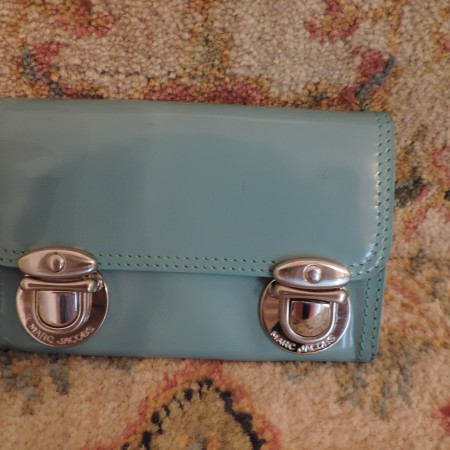 Marc Jacobs Turq. Leather Purse NEW