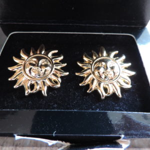 "Gianni Versace Profumi Clip ""Sun"" Earrings NWB"