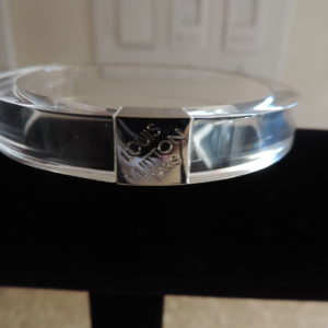 "Louis Vuitton ""Clear"" Logo Resin Bangle NWR RARE"