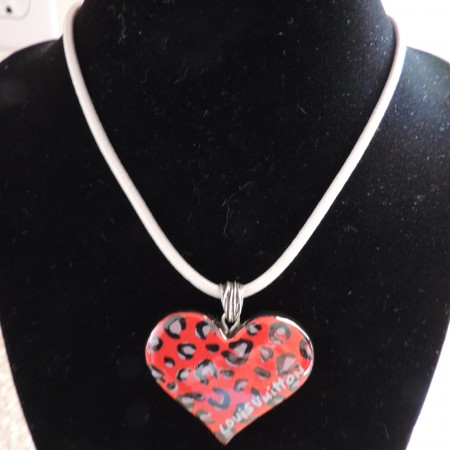 Louis Vuitton Necklace Set — Of 2 Interchangeable Pendants Heart & Butterfly W/ White Cord NWR RARE
