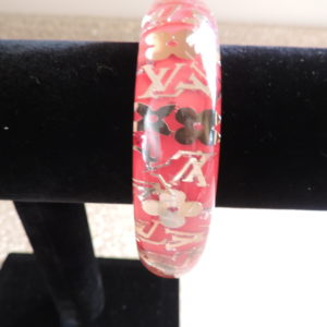 "Louis Vuitton ""Pomme"" Resin Inclusion Bangle Large NWR RARE"