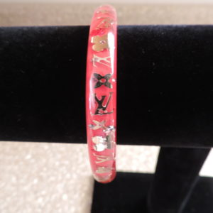 "Louis Vuitton ""Pomme"" Resin Inclusion Bangle Medium NWR RARE"