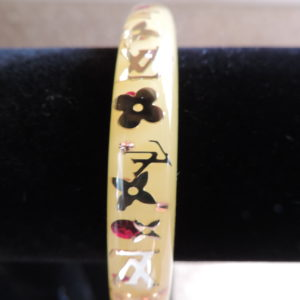 "Louis Vuitton ""Yellow"" Resin Inclusion Bangle Medium NWR"