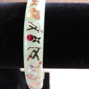 "Louis Vuitton ""Mint"" Resin Inclusion Bangle Medium NWR"