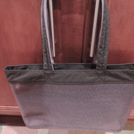 Armani Exchange Gray Tote – 2 Compartments — Zippered One In The Middle,  2 Handles