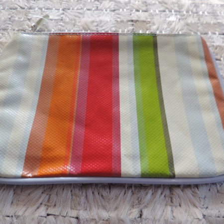 Large Stripe Cosmetic Bag NEW