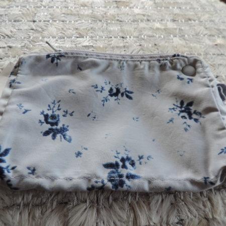 Blue Floral Silk Wrislet  NEW