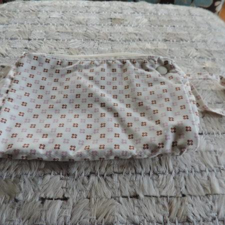 Beige/Brown Print Silk Wrislet  NEW