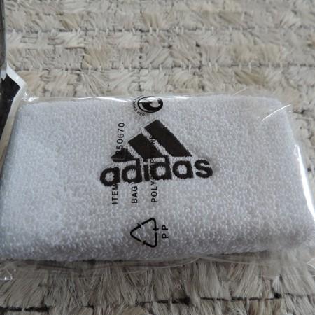 Adidas Set Of 2 White Terry Wristbands NEW