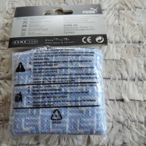 Puma Set Of 2 Blue Terry Wristbands NEW