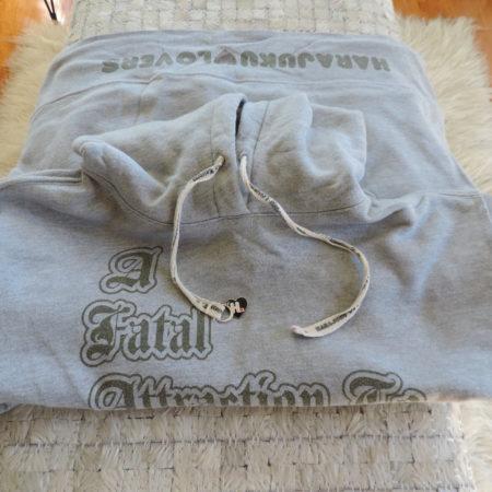 Harajuku Lovers Gray Hoodie Sweatshirt Size XL