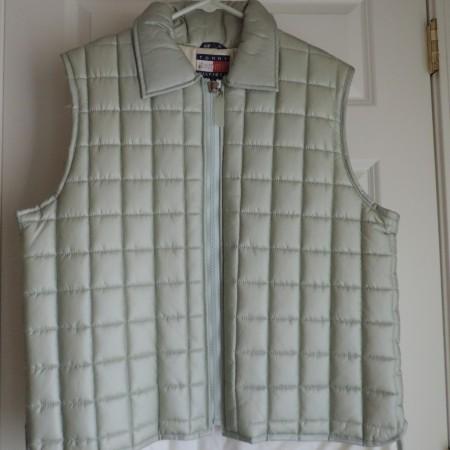 Tommy Hilfiger Gray Nylon Vest Zip Up Size XL