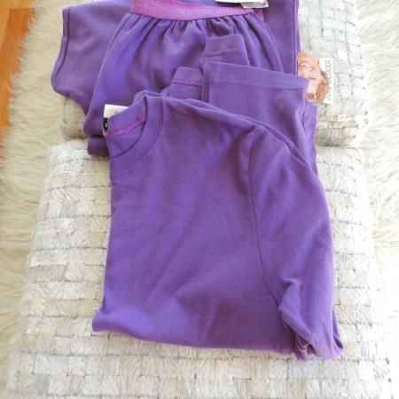 Pajama Set Purple Pants Size L And Top Size XL NEW