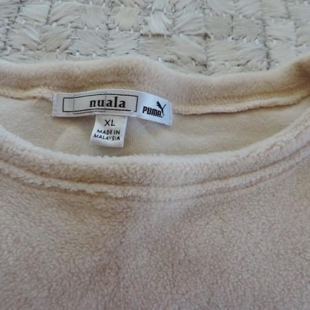 "Puma ""Nuala"" By Christy Turlington Beige Fleece Shirt Size XL"