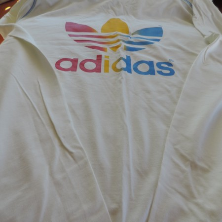 Adidas Long Sleeve Tee W/trefoil Logo On Front & Back Size XL