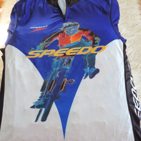 Speedo Biking Shirt Short Sleeve, Half Zip Size XL NEW