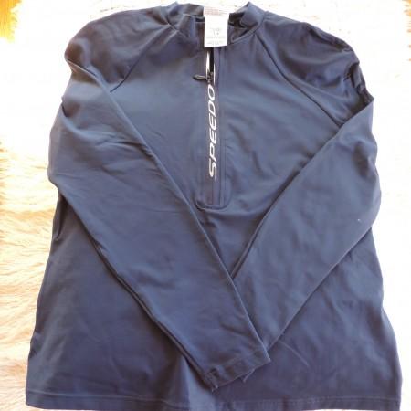 Speedo Navy Long Sleeve Half Zip Pullover  Size L  NEW