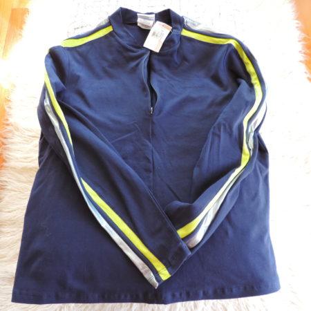 Speedo Navy Long Sleeve Half Zip Pullover Size XL NEW