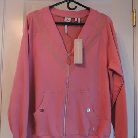 """Adidas – """"Stella McCartney"""" Pink Jacket Size L NEW"""